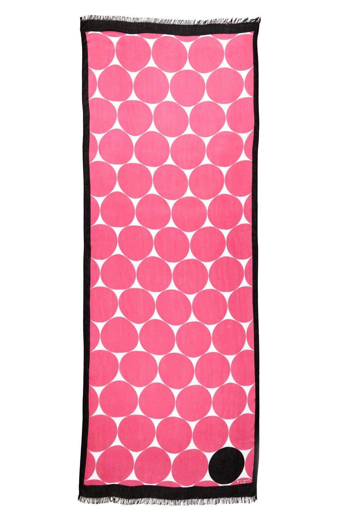Alternate Image 2  - kate spade new york 'deborah' dot scarf