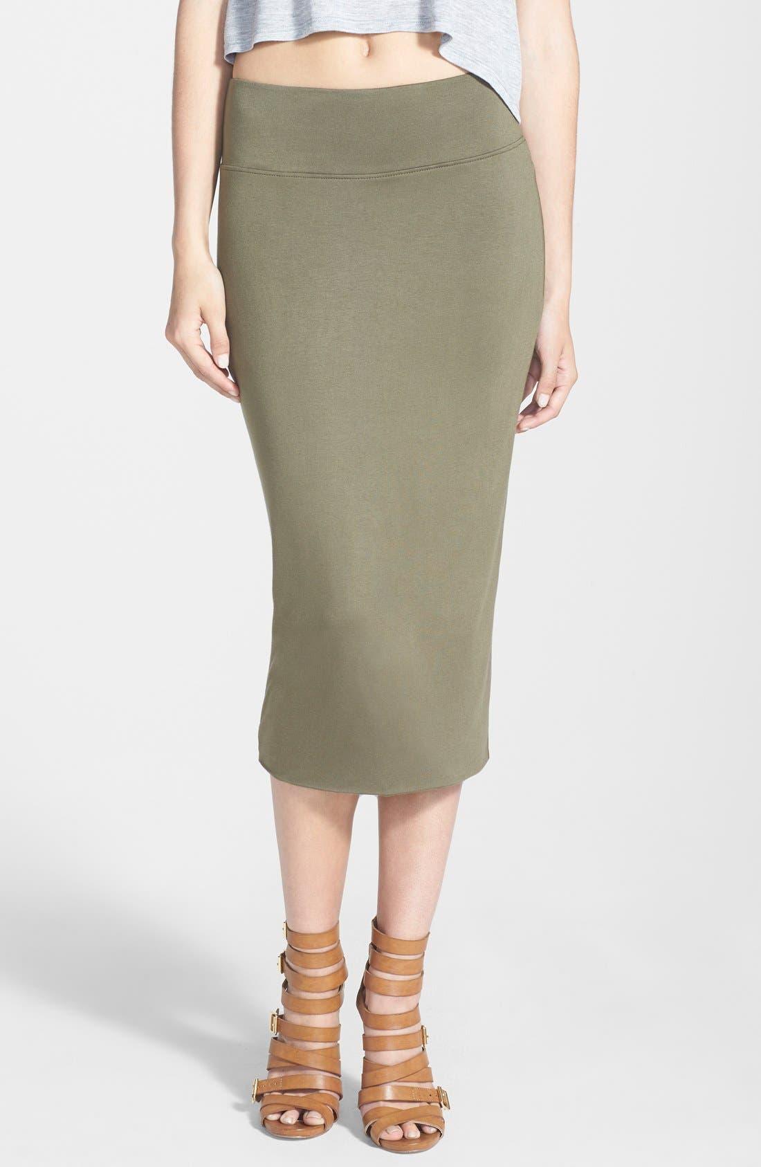 Main Image - Leith High Waist Tube Midi Skirt