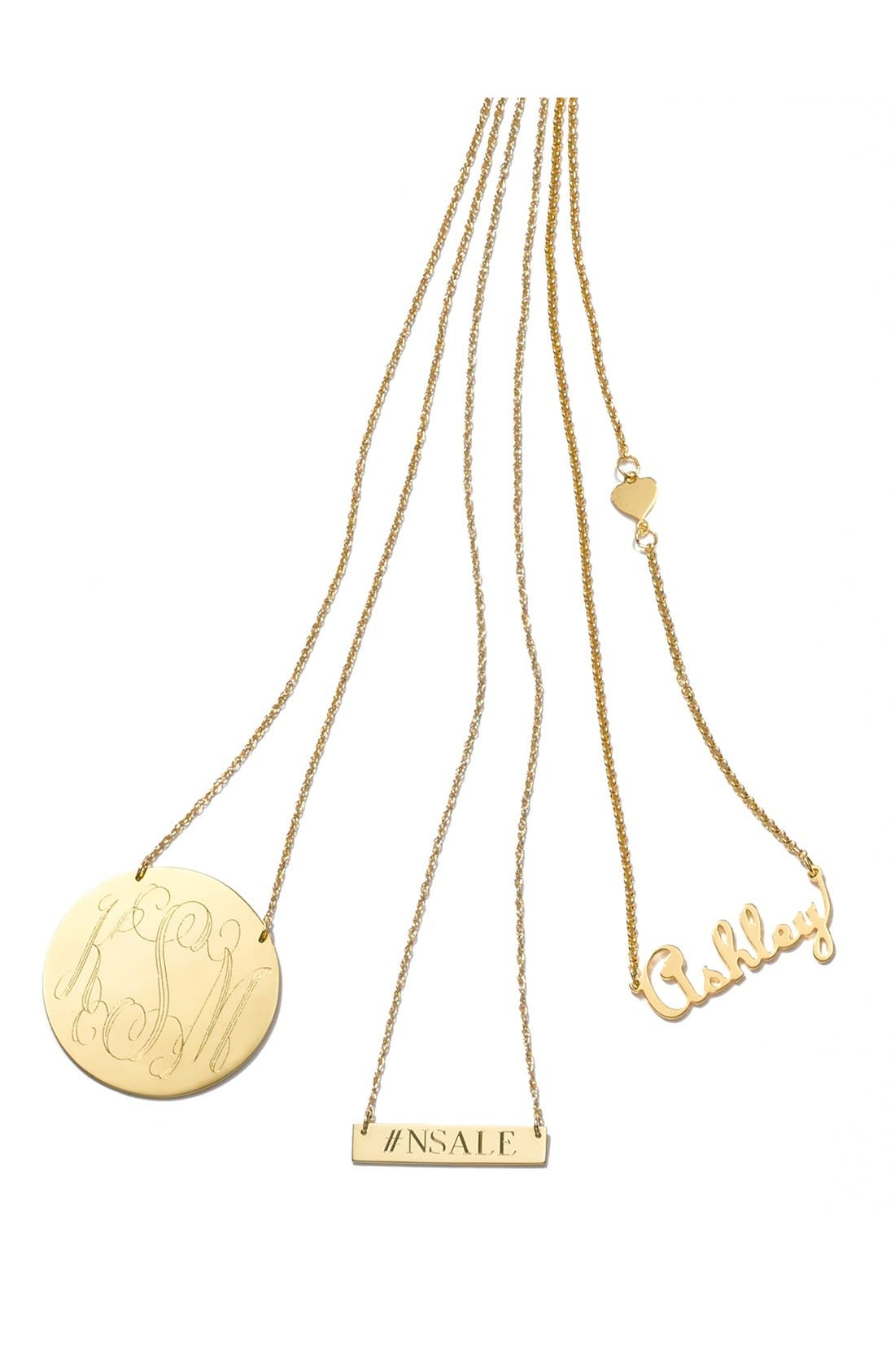 Alternate Image 3  - Moon and Lola Personalized Script Monogram Pendant Necklace (Online Only)