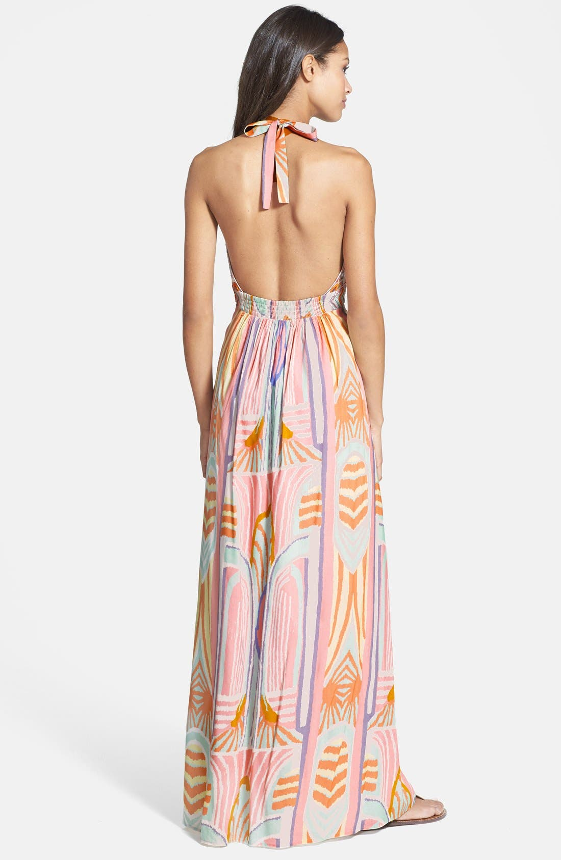Alternate Image 2  - Jessica Simpson Beaded Print Maxi Dress (Nordstrom Exclusive)