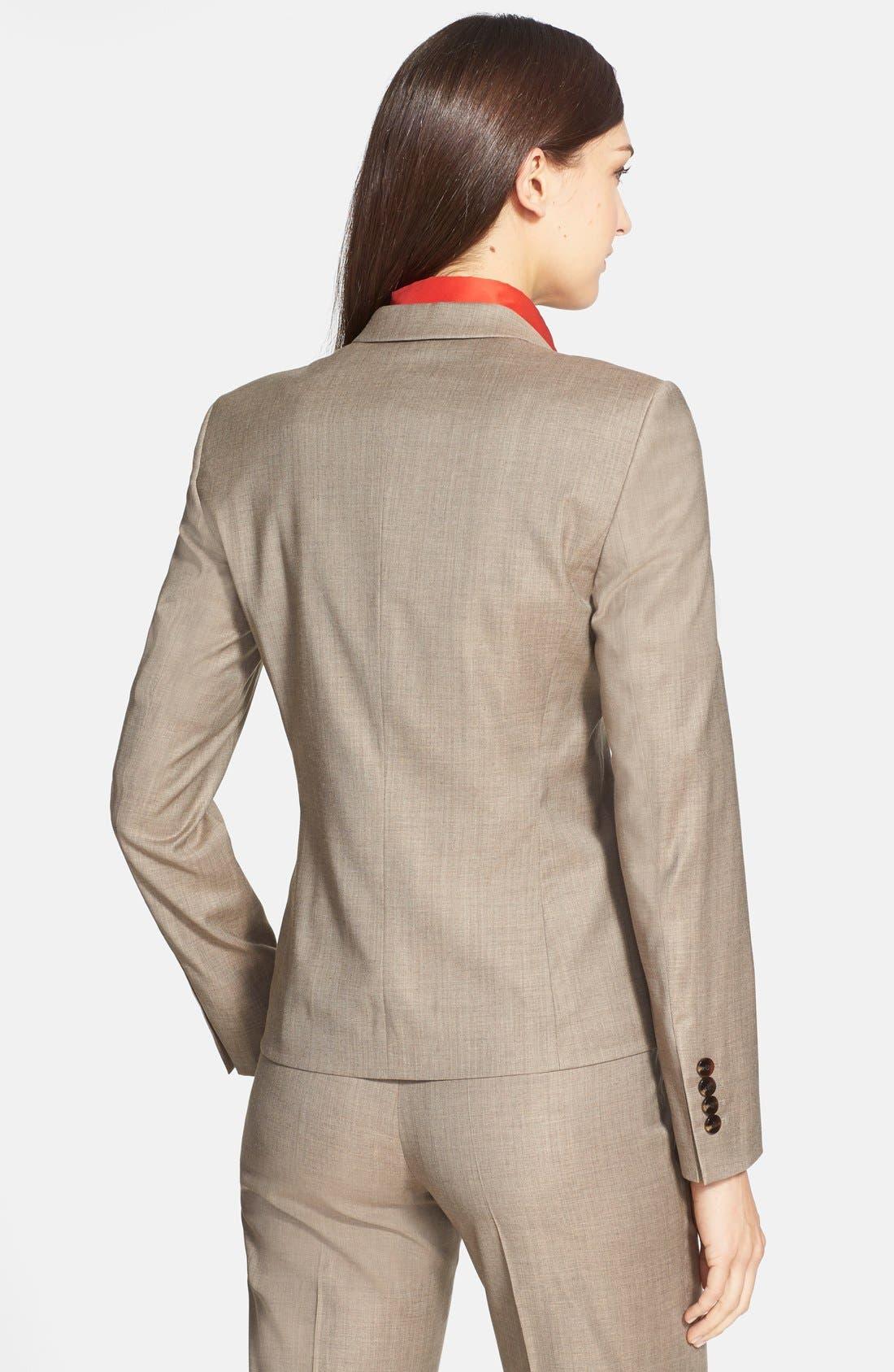 Alternate Image 2  - BOSS 'Jadena' Stretch Crepe Jacket
