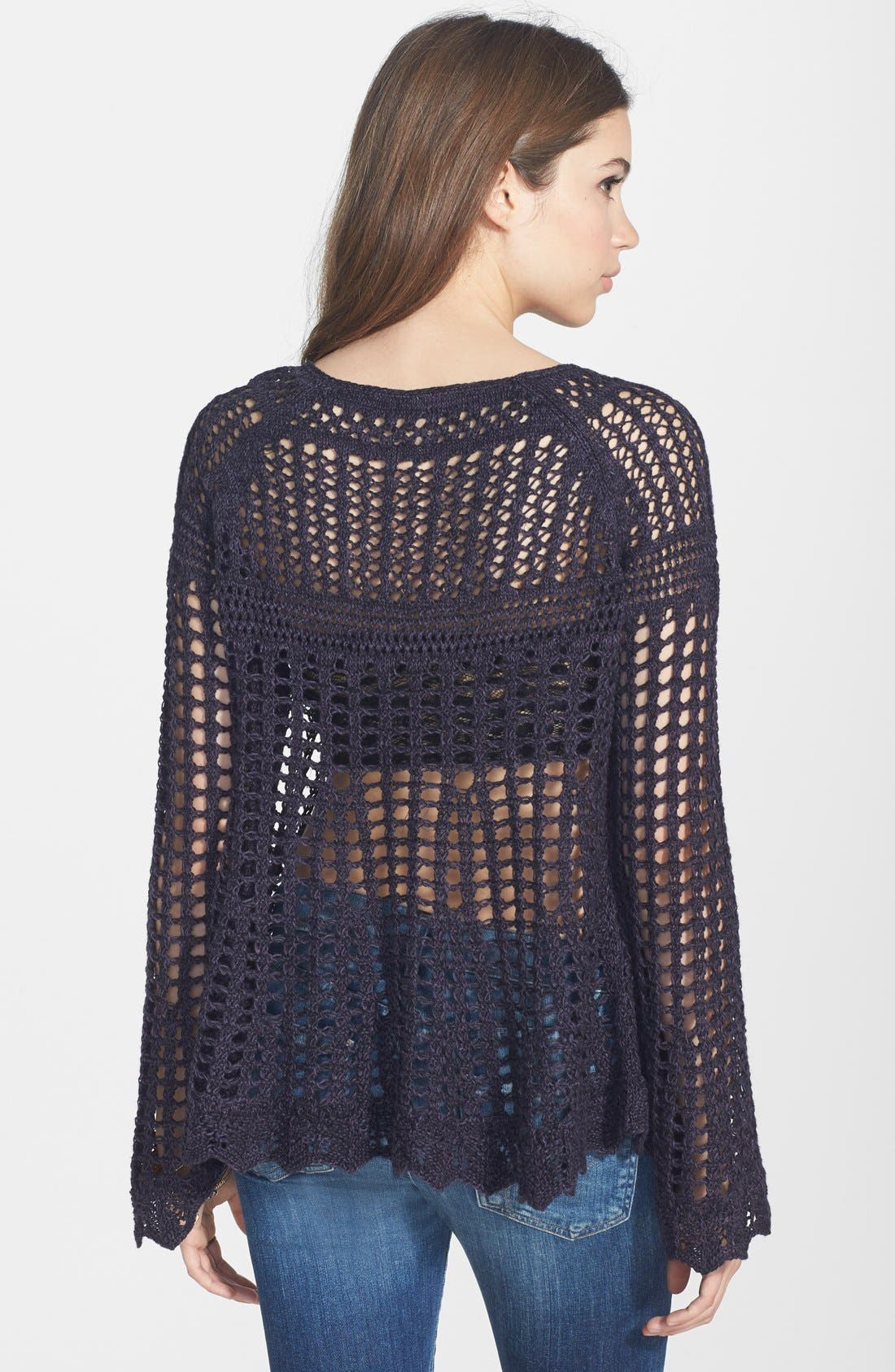 Alternate Image 2  - Free People 'Annabelle' Crocheted Pullover