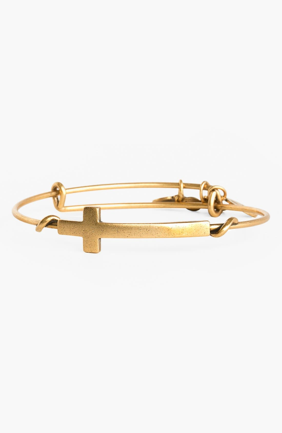 Main Image - Alex and Ani 'Cross Wrap' Expandable Wire Bangle