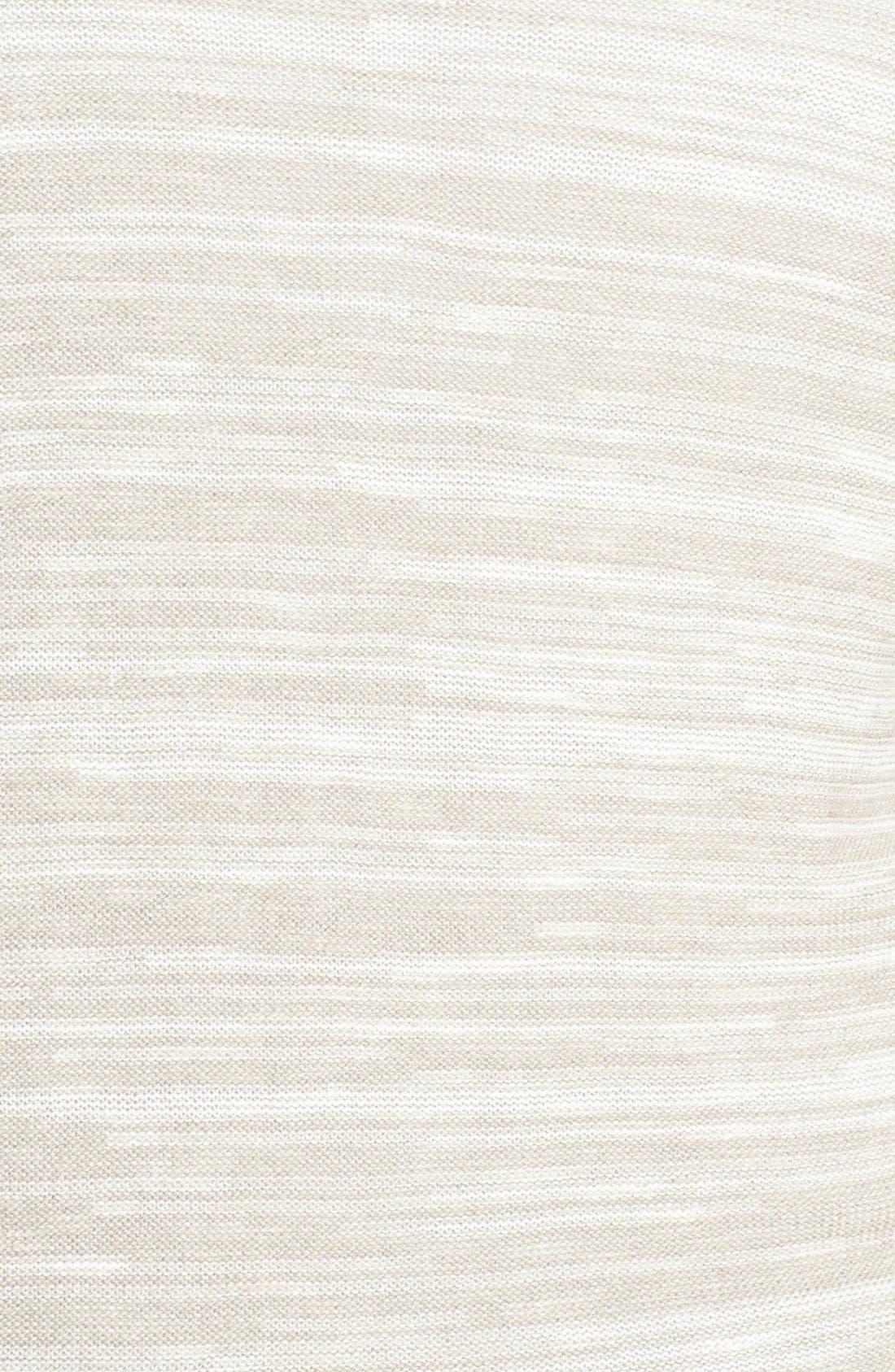 Alternate Image 3  - Sejour Elbow Sleeve Cotton Blend V-Neck Cardigan (Plus Size)