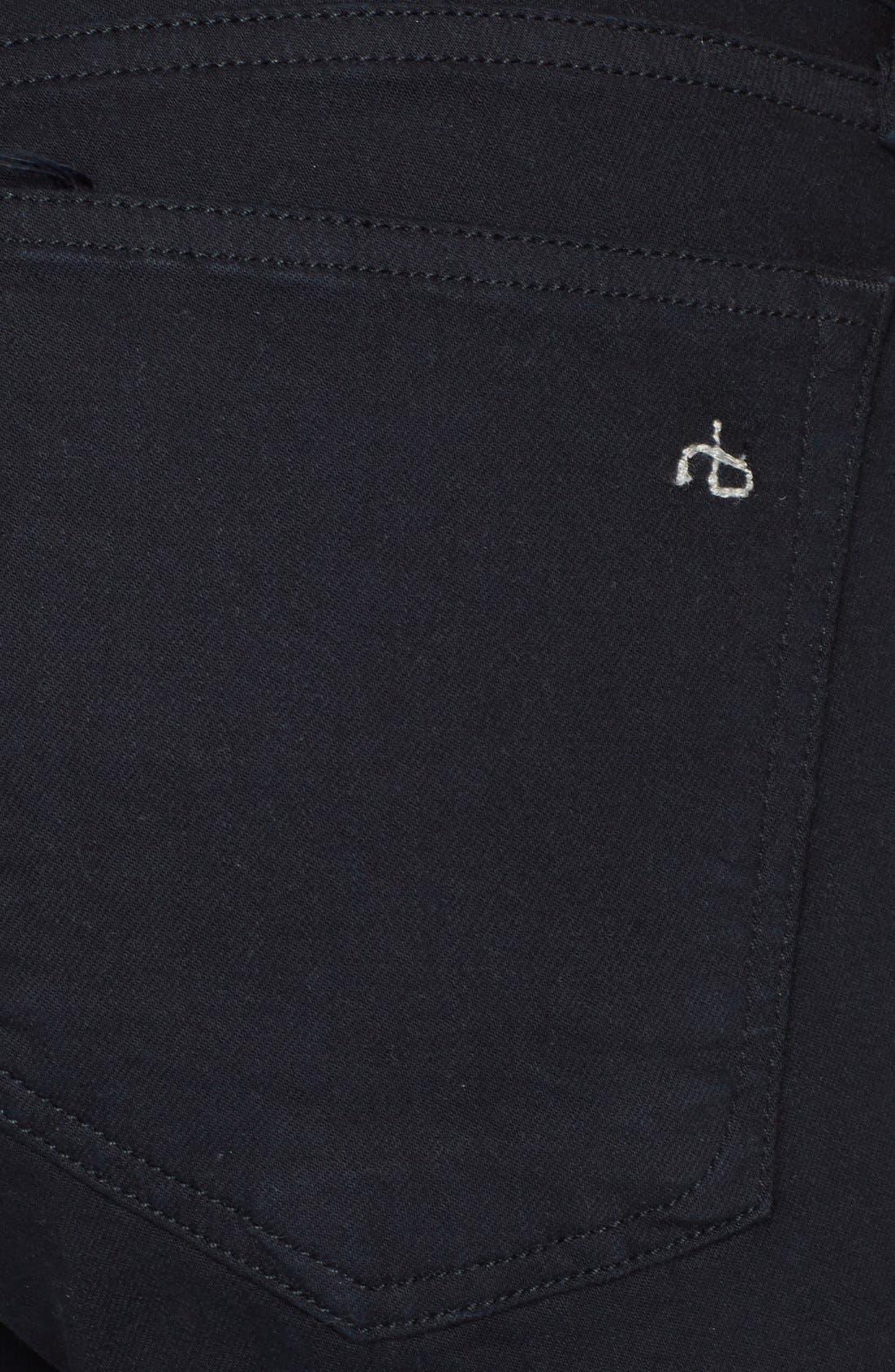 Alternate Image 3  - rag & bone/JEAN 'The Dre' Skinny Jeans (Aged Black)