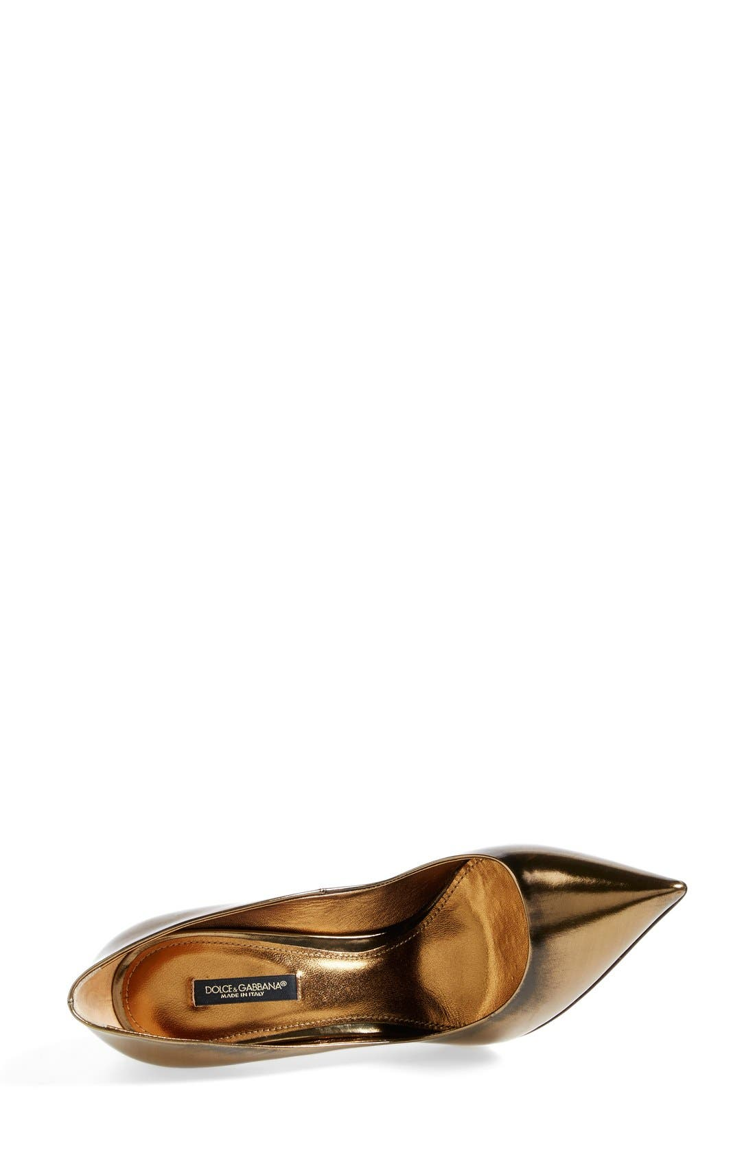 Alternate Image 4  - Dolce&Gabbana Studded Heel Pump (Women)