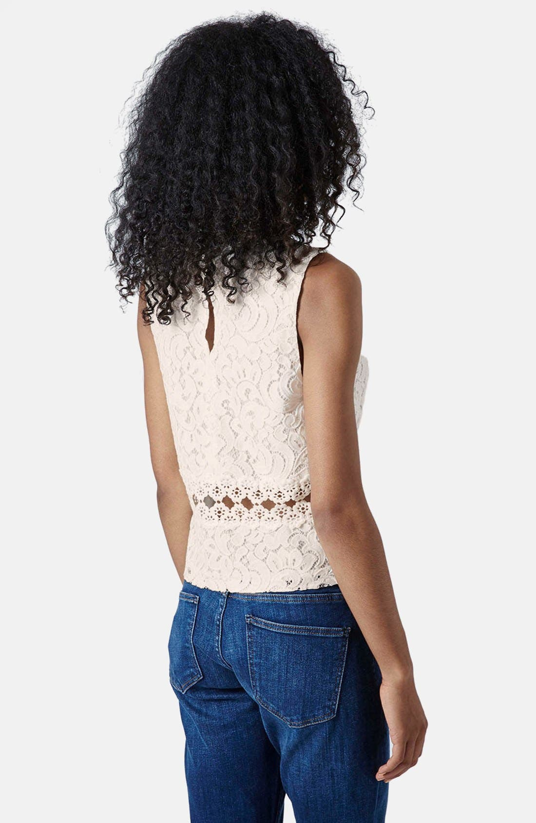 Alternate Image 2  - Topshop Crochet Shell