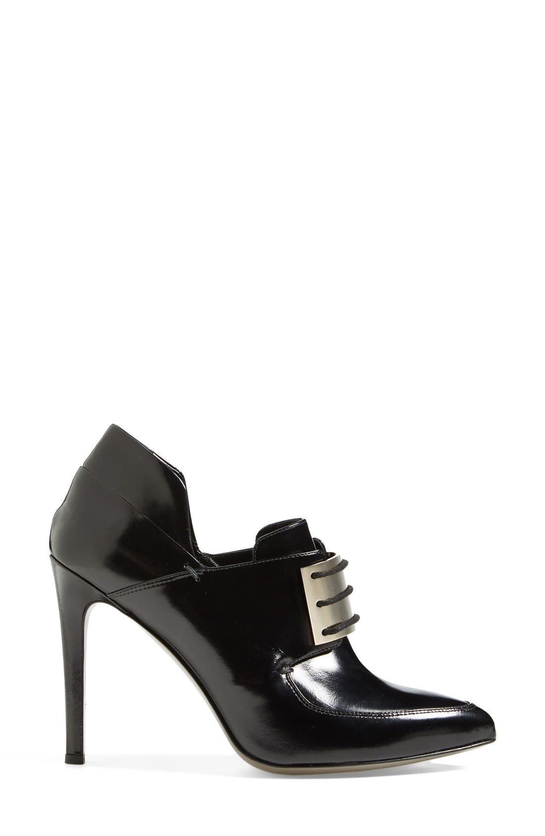 Alternate Image 4  - Jason Wu Metal Plate Lace-Up Leather Loafer Bootie (Women)