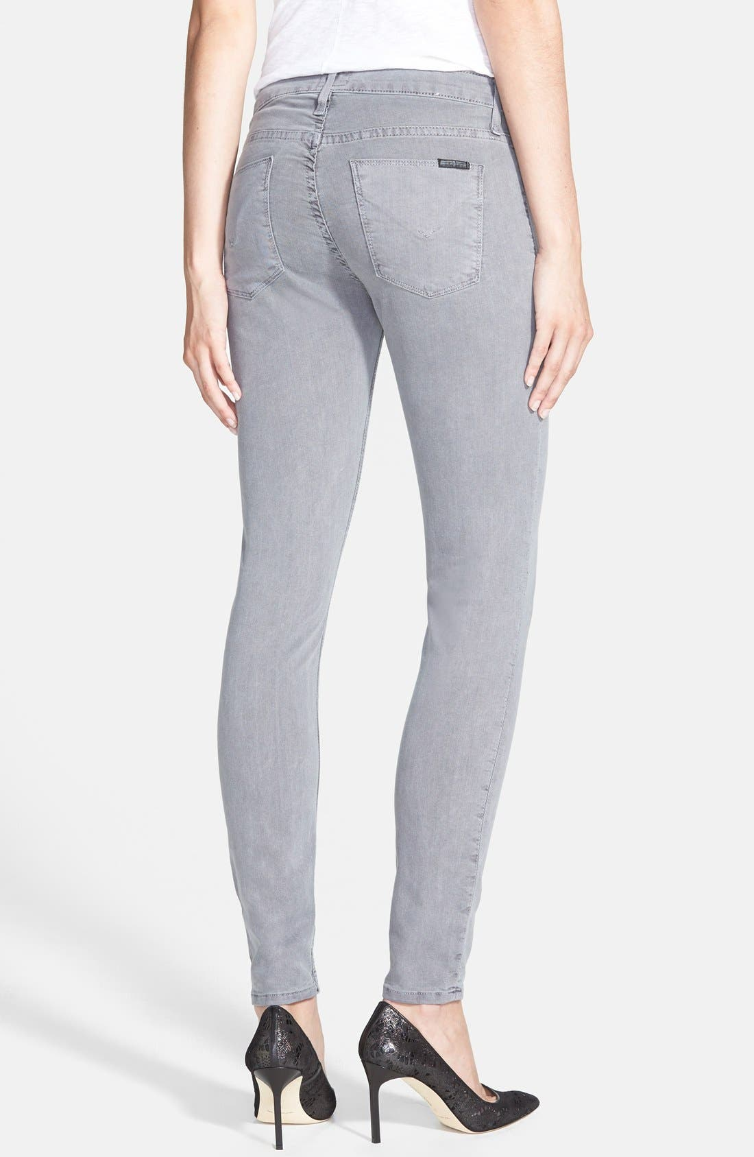 Alternate Image 2  - Hudson Jeans 'Nico' Skinny Overdyed Jeans (Grey Wash)