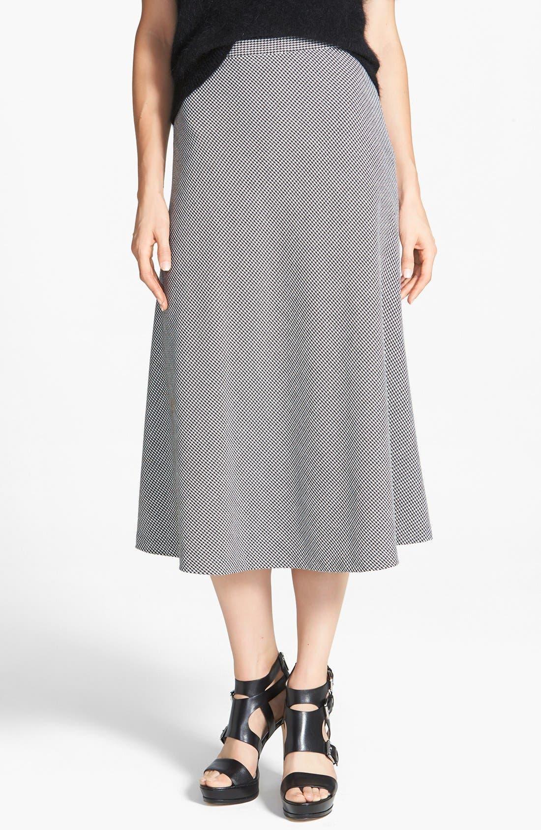 Alternate Image 1 Selected - MICHAEL Michael Kors Houndstooth Circle Skirt