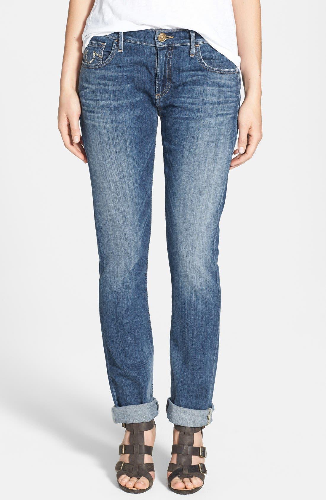 Alternate Image 1 Selected - True Religion Brand Jeans 'Audrey' Boyfriend Jeans (Spring Ink)