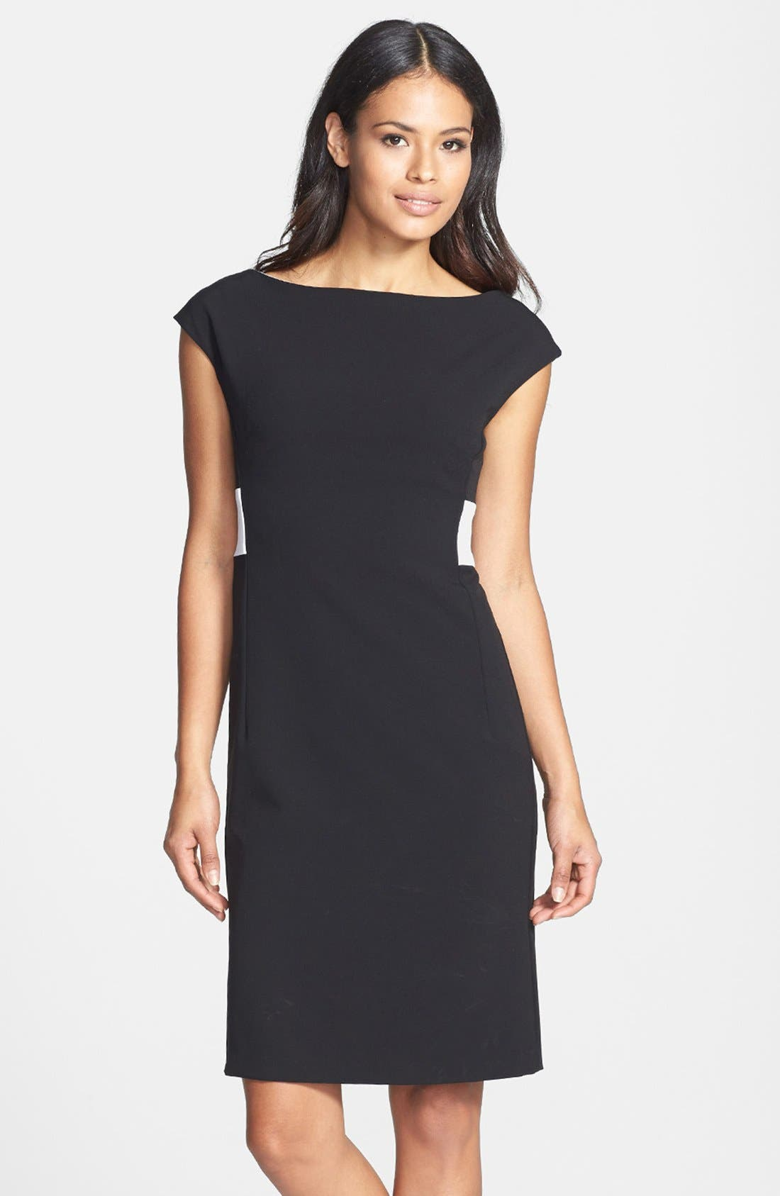 Main Image - Isaac Mizrahi New York Back Pleated Shift Dress