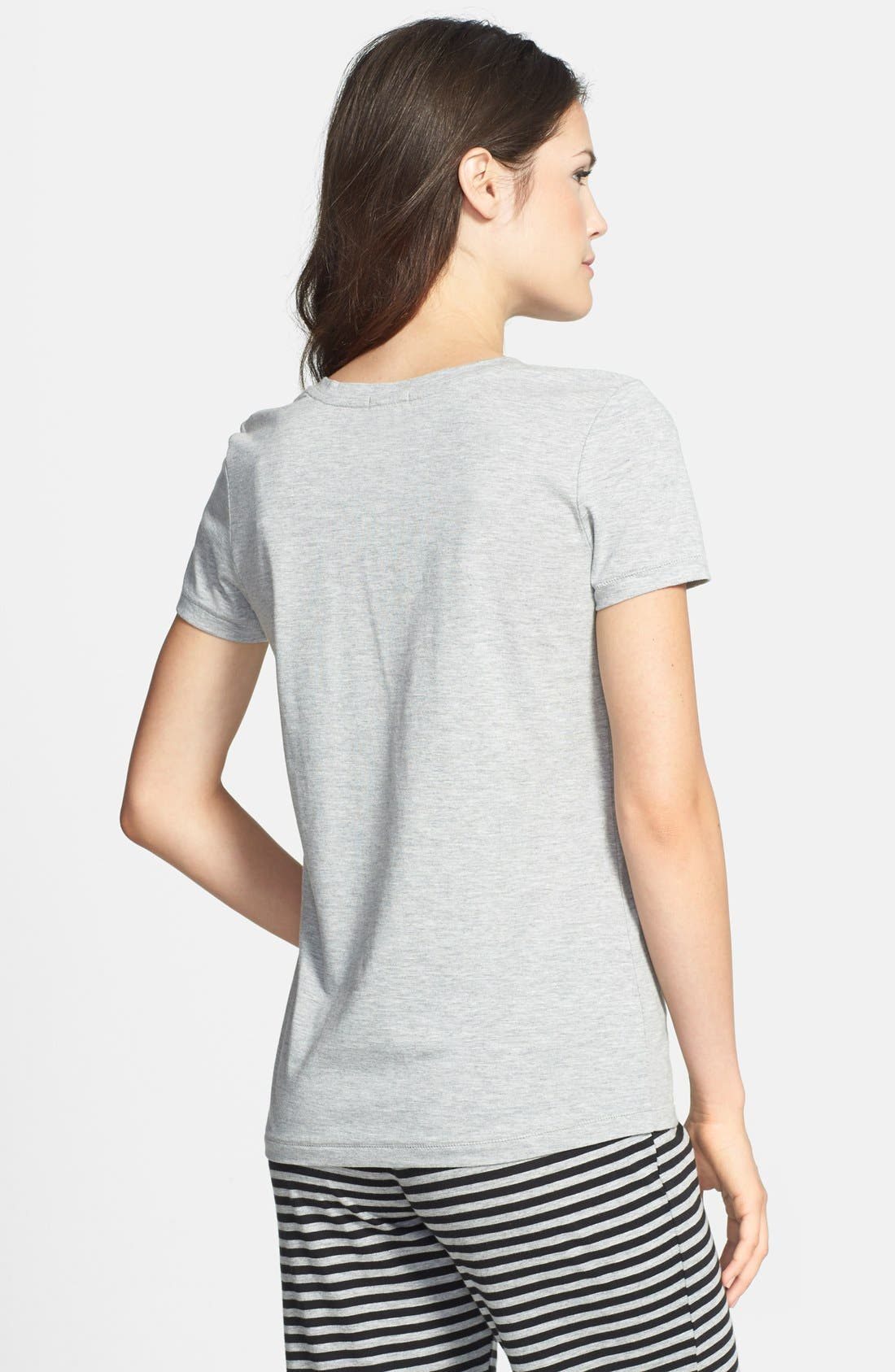 Alternate Image 2  - COZY ZOE 'Quirky' Graphic V-Neck Tee