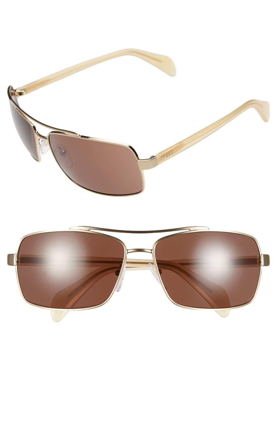 Alternate Image 1 Selected - Prada 'Society' 63mm Sunglasses
