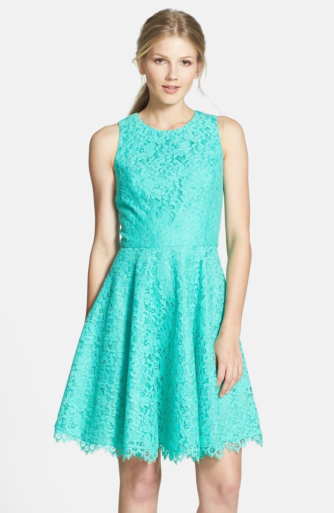 Main Image - Shoshanna 'Judith' Lace Fit & Flare Dress