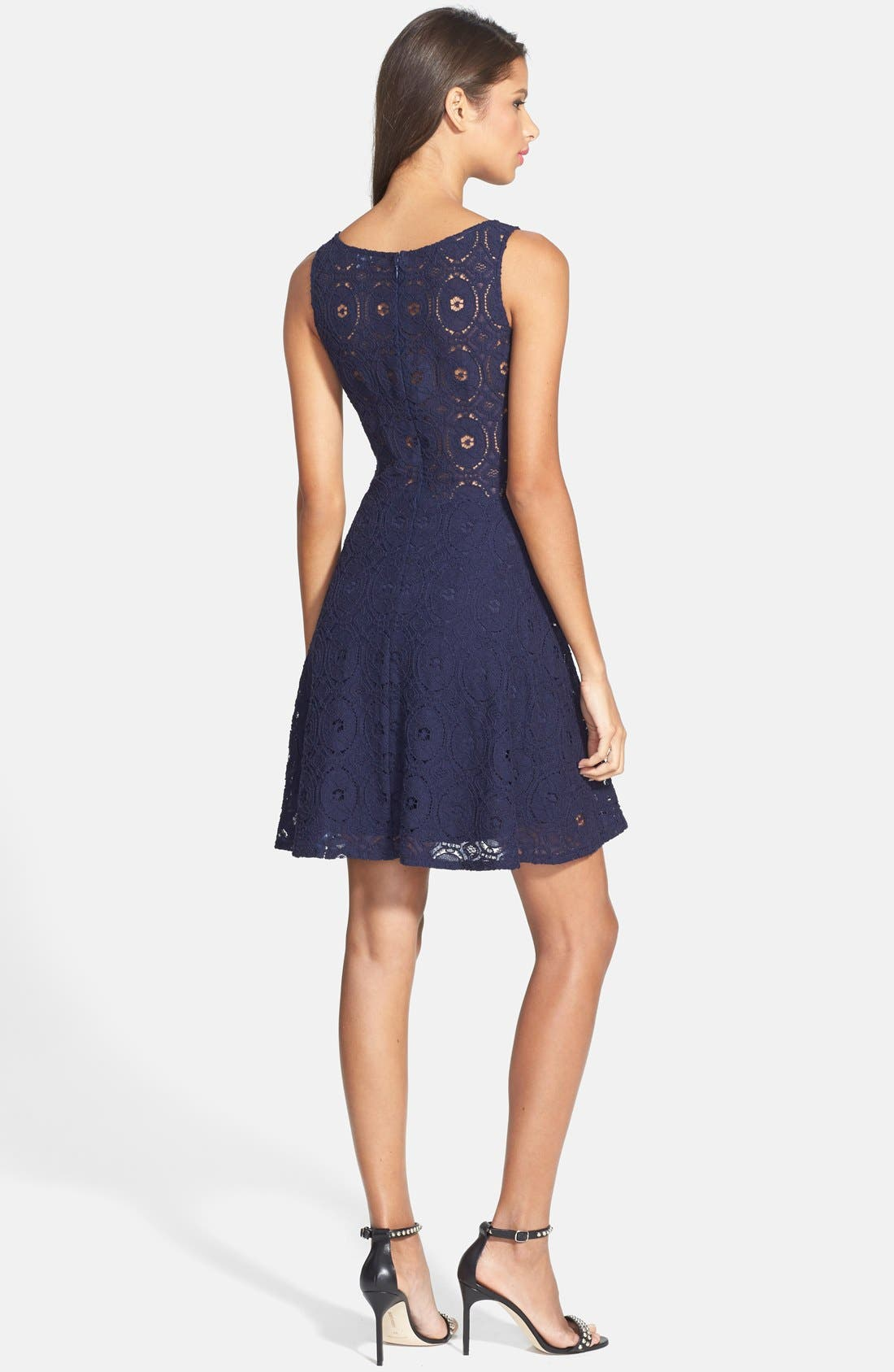 BB Dakota 'Renley' Lace Fit & Flare Dress (Nordstrom Exclusive ...