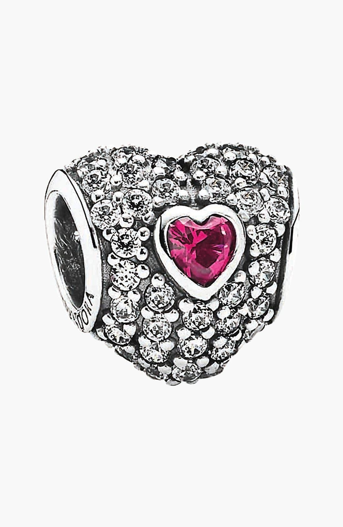 Alternate Image 1 Selected - PANDORA 'In My Heart' Pavé Heart Charm