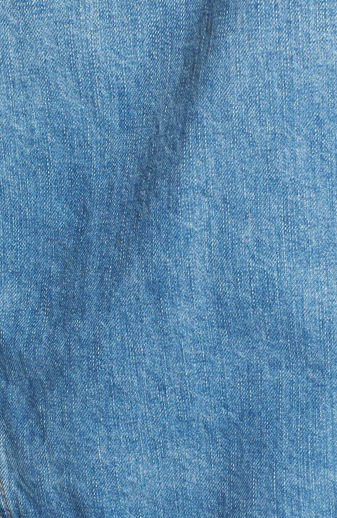 Alternate Image 3  - BLANKNYC Mixed Media Denim Jacket
