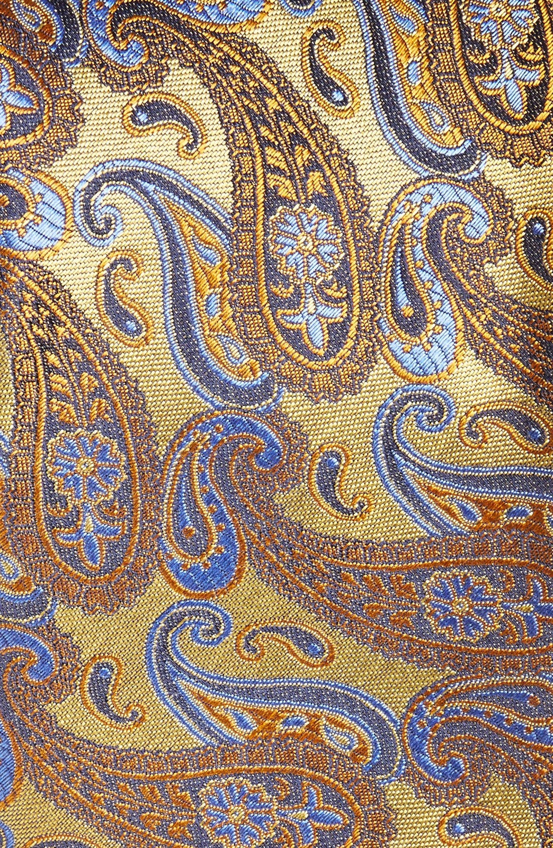 Alternate Image 2  - Canali Paisley Woven Silk Tie