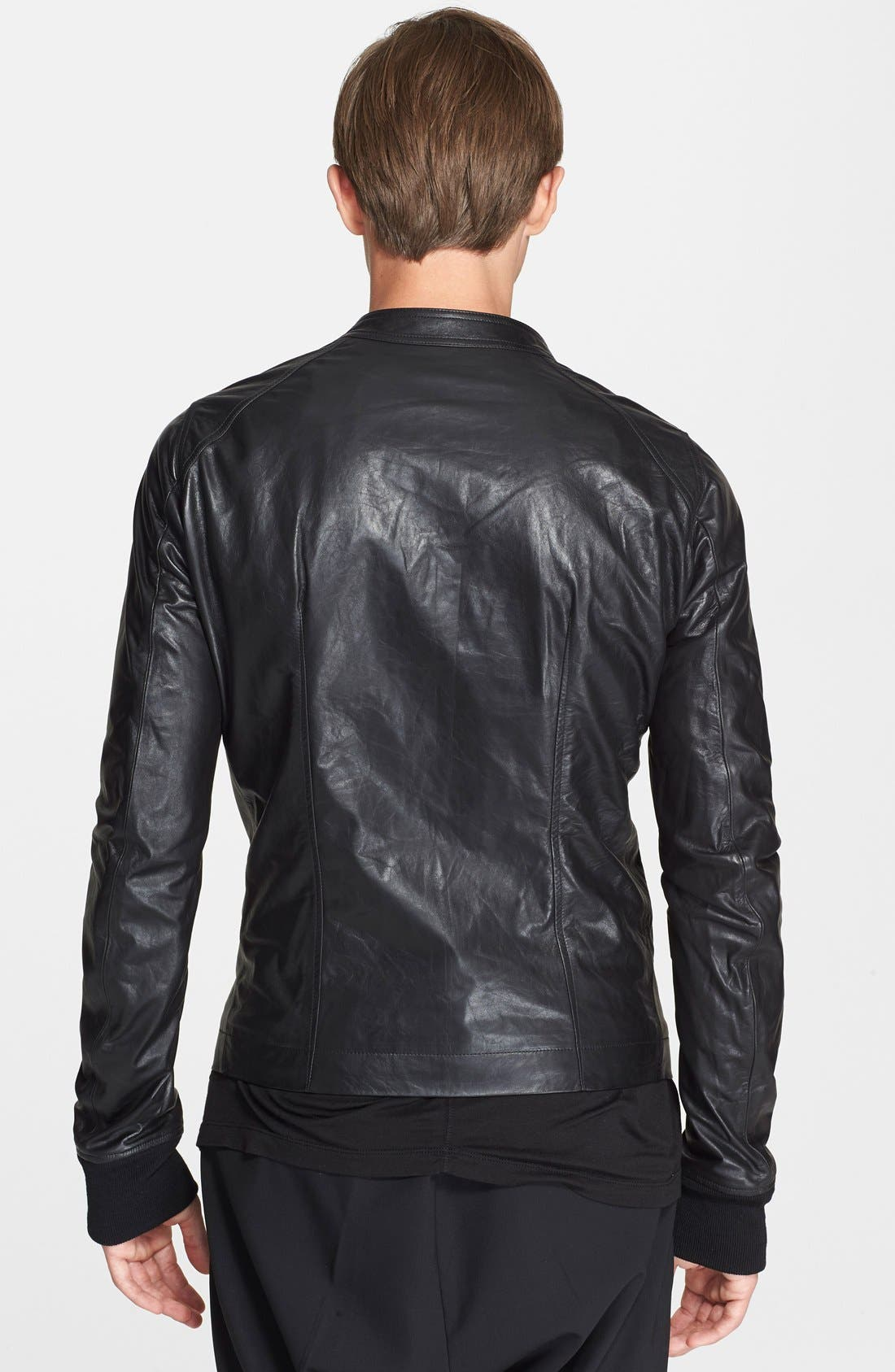 Alternate Image 2  - Rick Owens Band Collar Biker Jacket