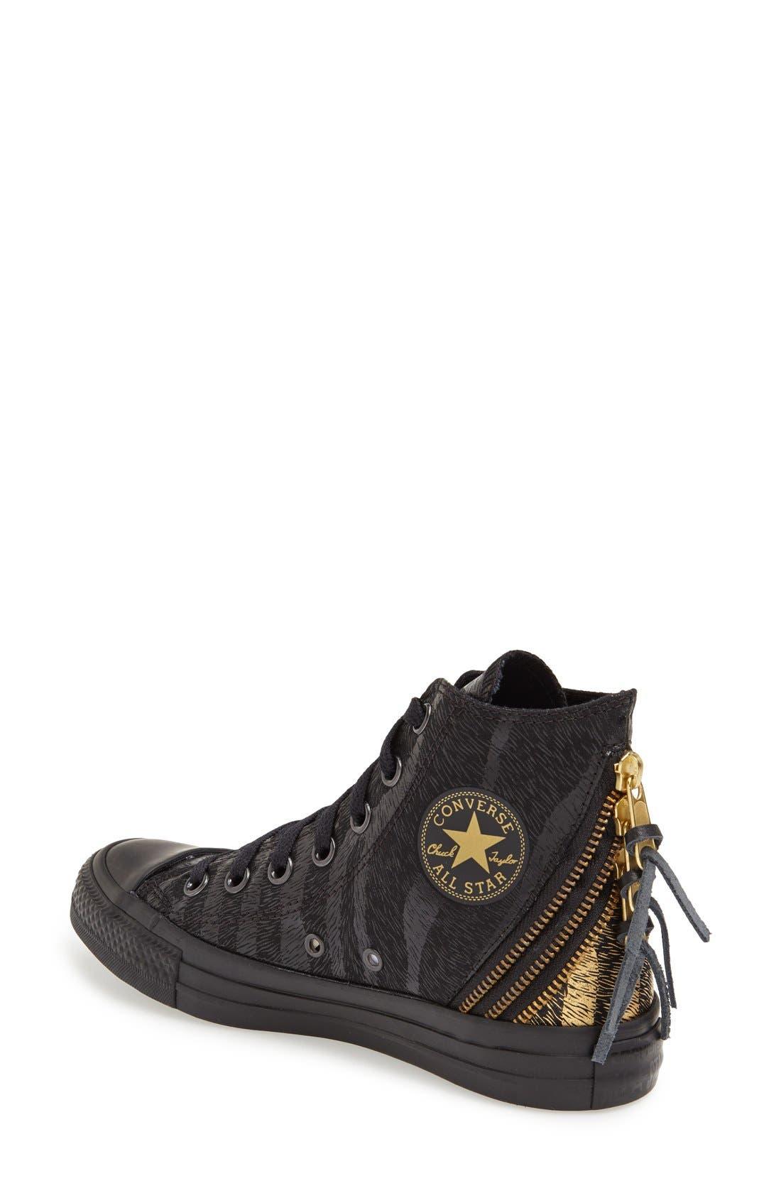 Alternate Image 2  - Converse Chuck Taylor® All Star® 'Tri Zip' High Top Sneaker (Women)