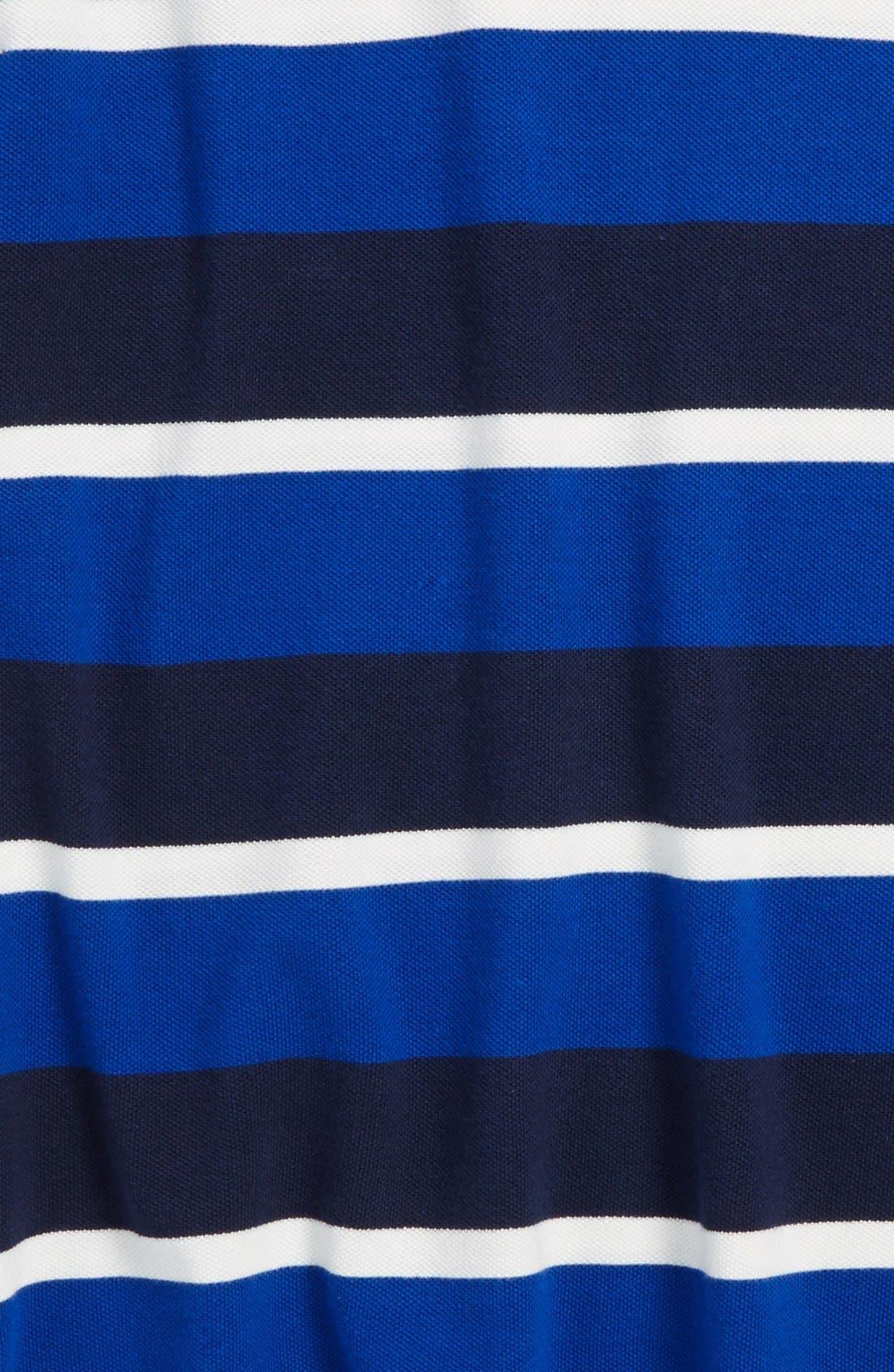 Alternate Image 2  - Ralph Lauren Rugby Stripe Mesh Polo (Toddler Boys)