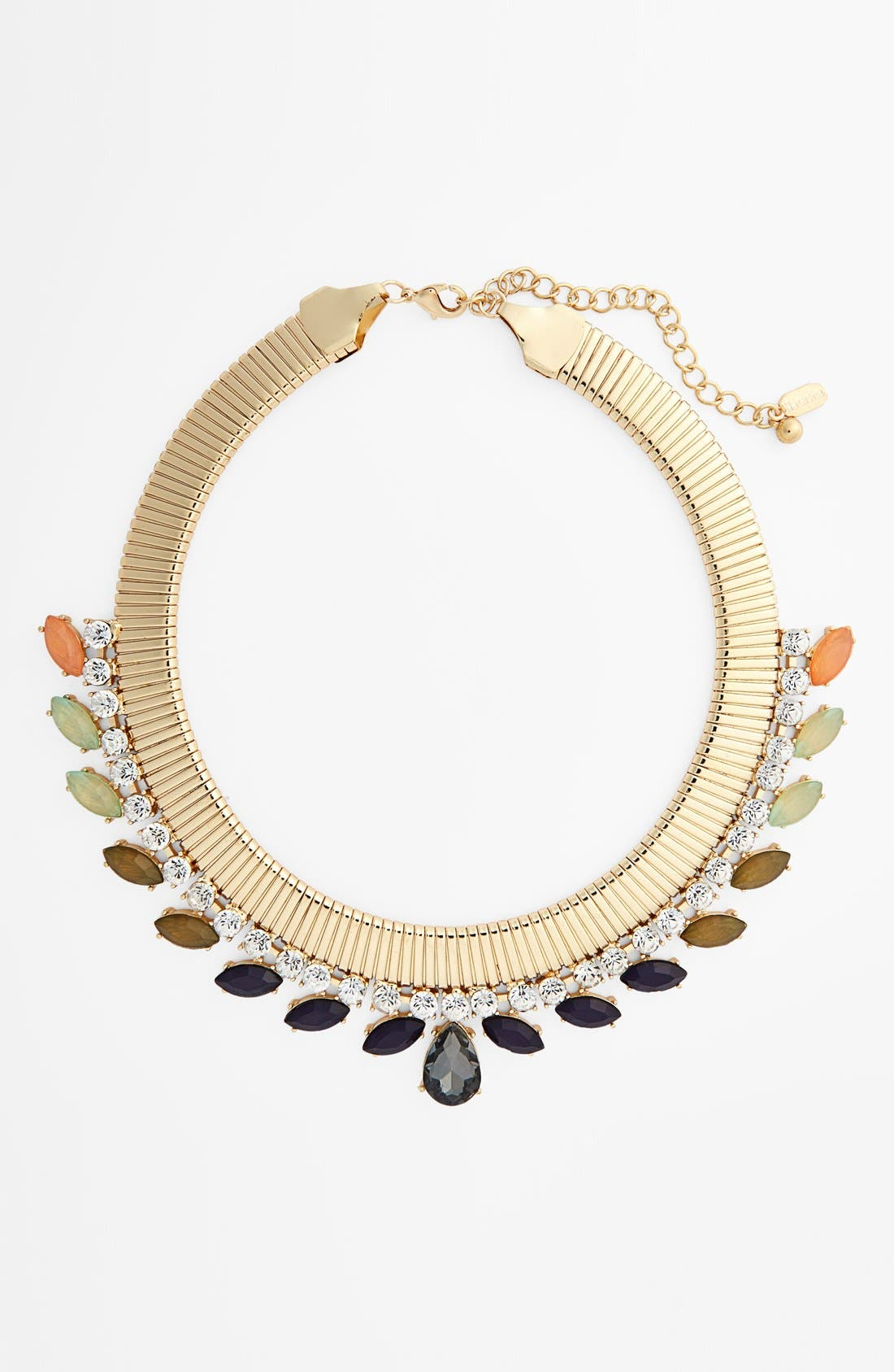 Main Image - Natasha Couture Snake Chain Ombré Collar Necklace