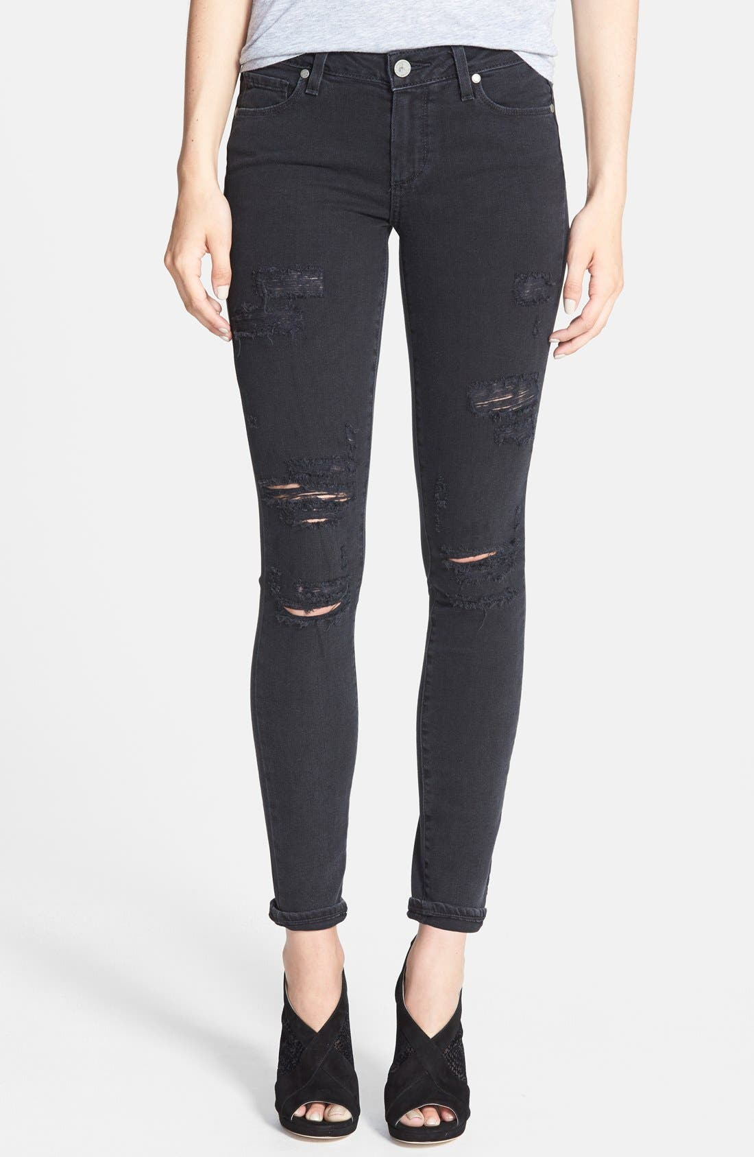 Alternate Image 1 Selected - Paige Denim 'Verdugo' Ultra Skinny Jeans (Ramone Destructed)