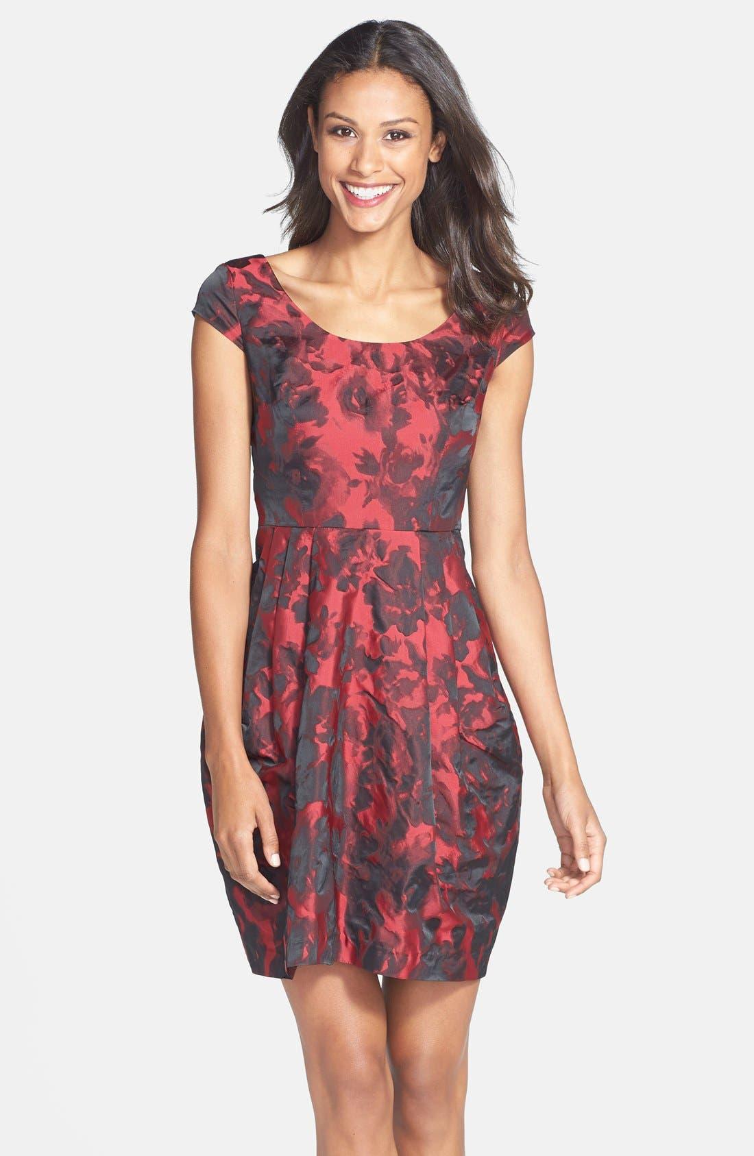 Alternate Image 1 Selected - Betsey Johnson Floral Jacquard Sheath Dress