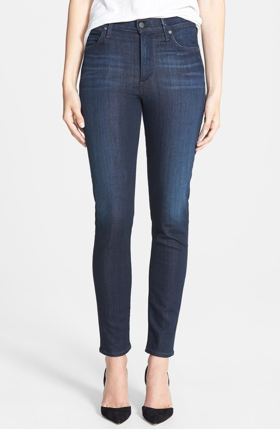 Alternate Image 1 Selected - Citizens of Humanity 'Rocket' High Rise Skinny Jeans (Space)