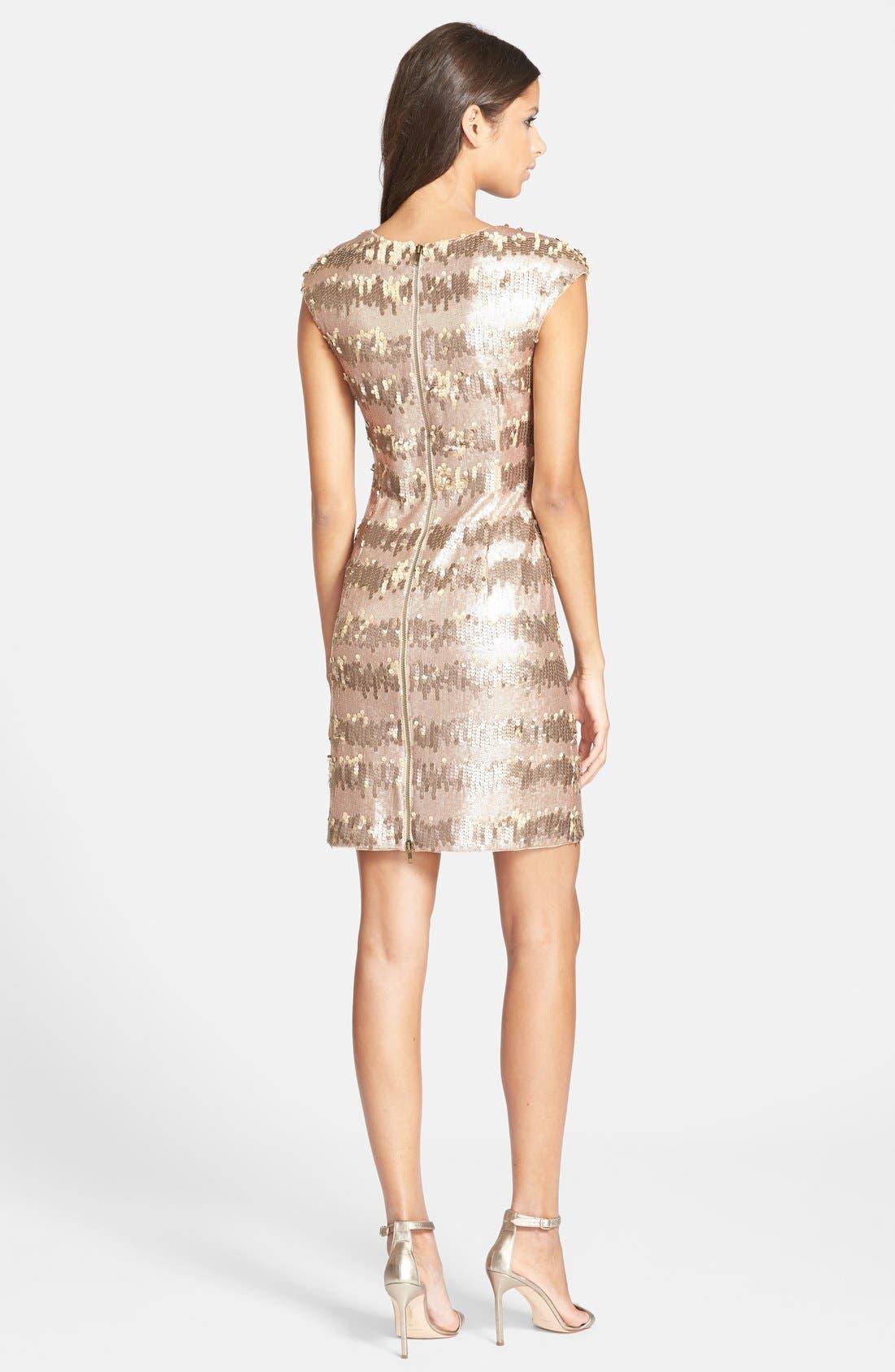 Alternate Image 2  - Adrianna Papell Sequin Sheath Dress