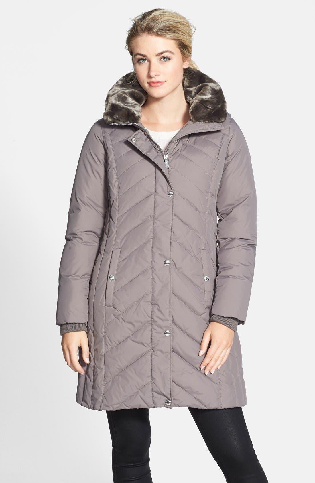 Main Image - MICHAEL Michael Kors Fur Trim Down & Feather Coat (Online Only) (Regular & Petite)