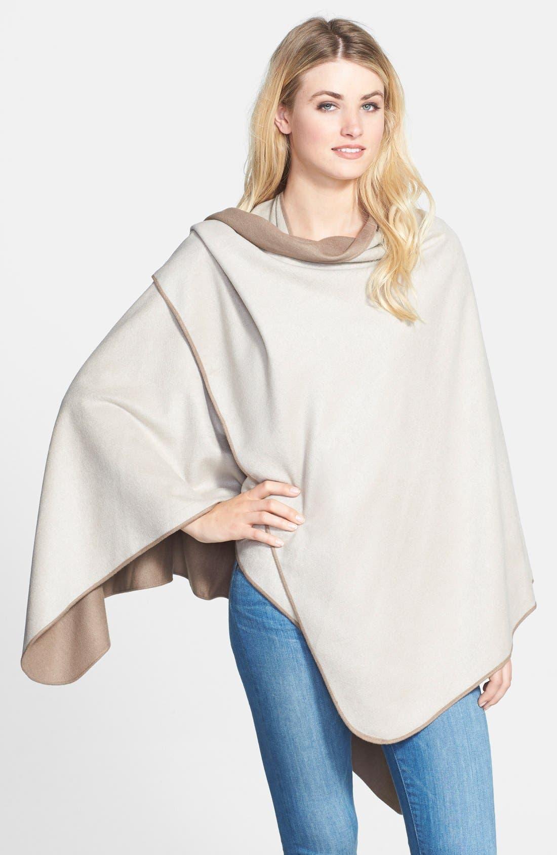 Alternate Image 2  - Chelsey Solid Reversible Silk Cape