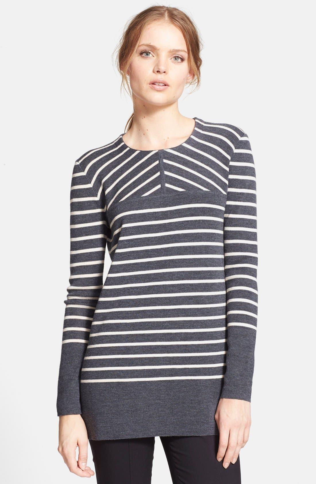 Main Image - Tory Burch 'Seraphina' Stripe Tunic