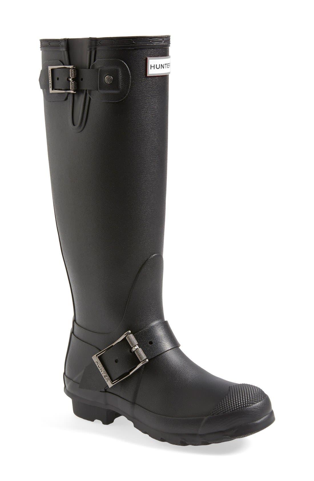 Main Image - Hunter 'Tall Moto' Rain Boot (Nordstrom Exclusive) (Women)