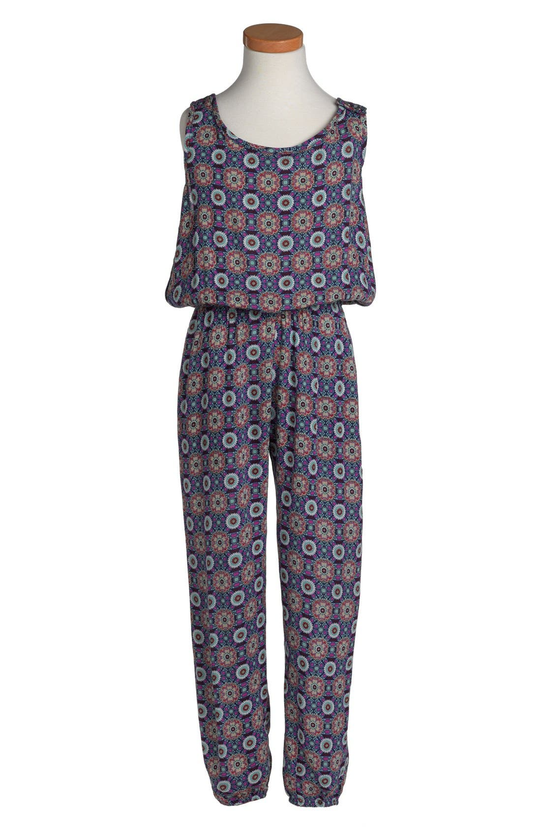 Alternate Image 1 Selected - Mia Chica Jumpsuit (Big Girls)