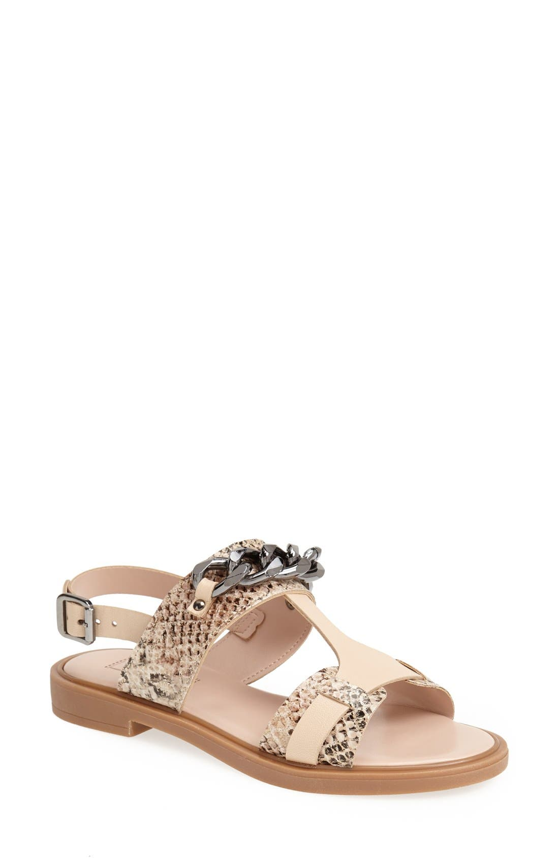 Alternate Image 1 Selected - Topshop 'Fly Chain' T-Strap Sandal (Women)