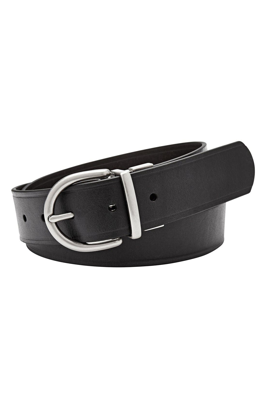 Alternate Image 1 Selected - Fossil Reversible Metal Keeper Leather Belt