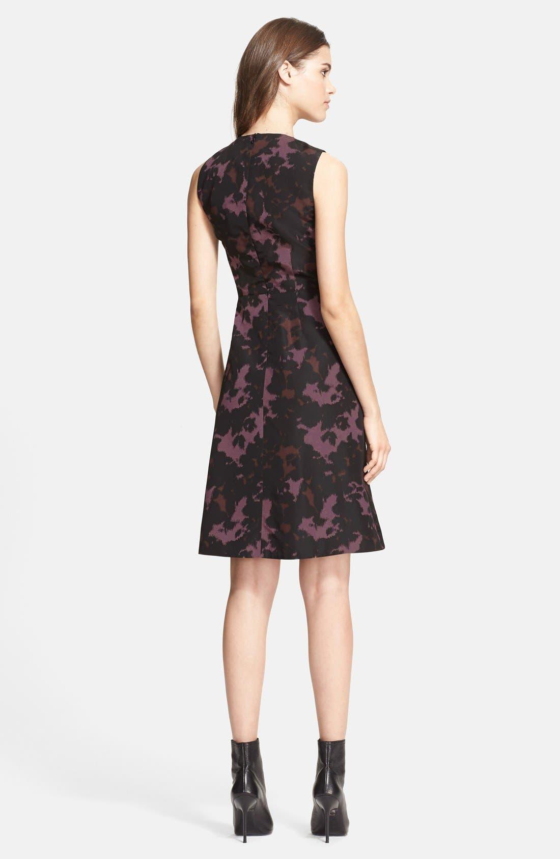 Alternate Image 2  - Burberry London Print Mulberry Silk Fit & Flare Dress