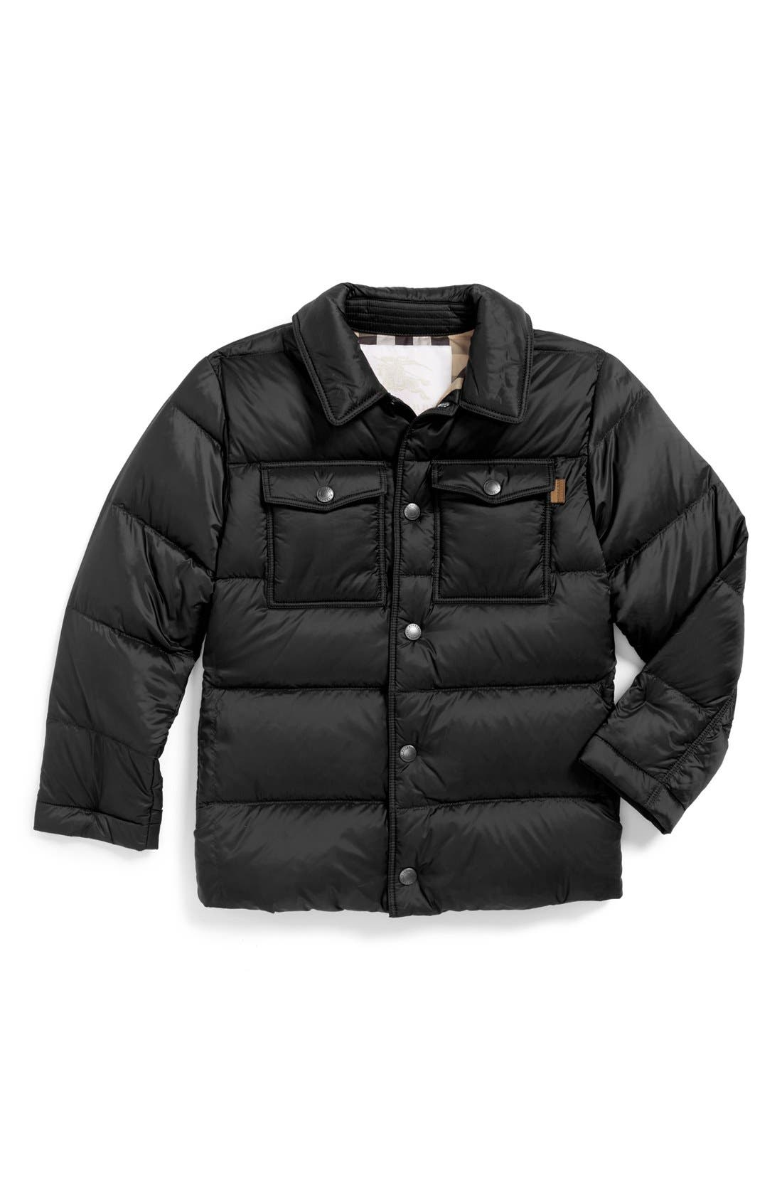 Alternate Image 1 Selected - Burberry Quilted Down Jacket (Baby Boys)