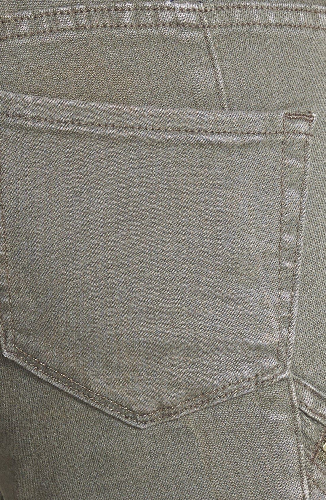 Alternate Image 3  - Treasure&Bond Zip Skinny Jeans (Olive Tarmac)