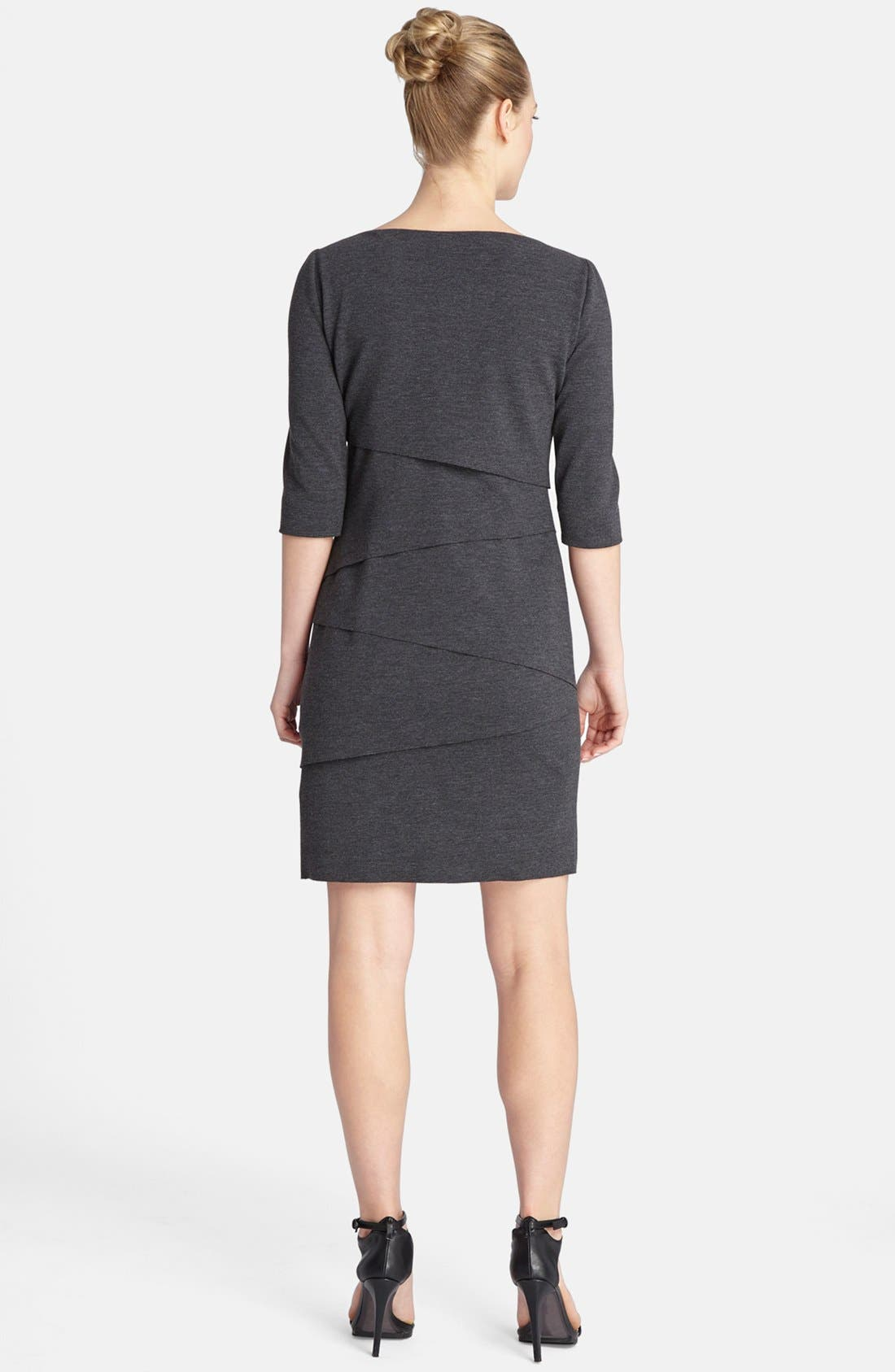 Alternate Image 2  - Tahari Tiered Knit Shift Dress
