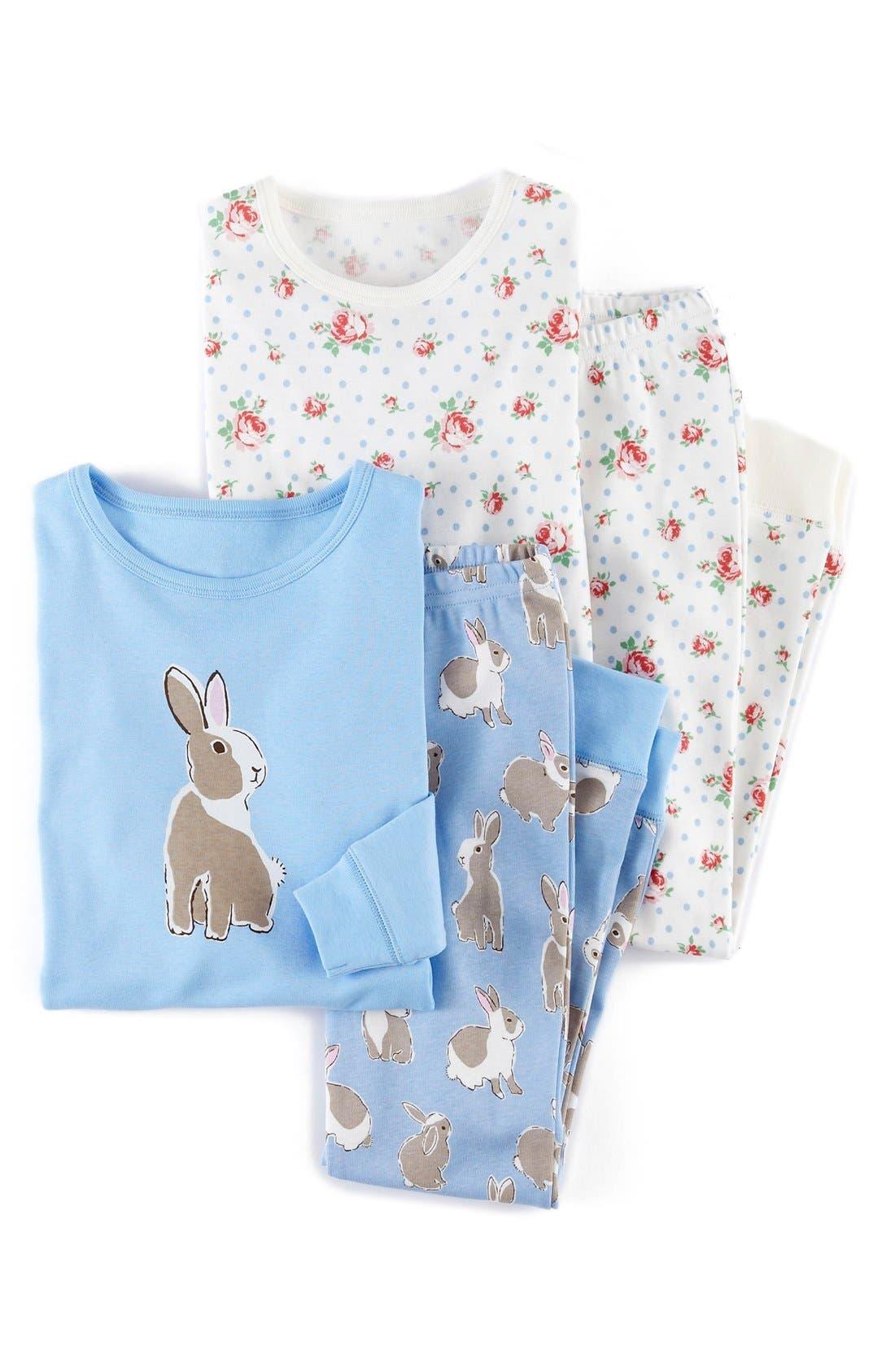 Main Image - Mini Boden Snug Fit Pajamas (2-Pack) (Toddler Girls, Little Girls & Big Girls)