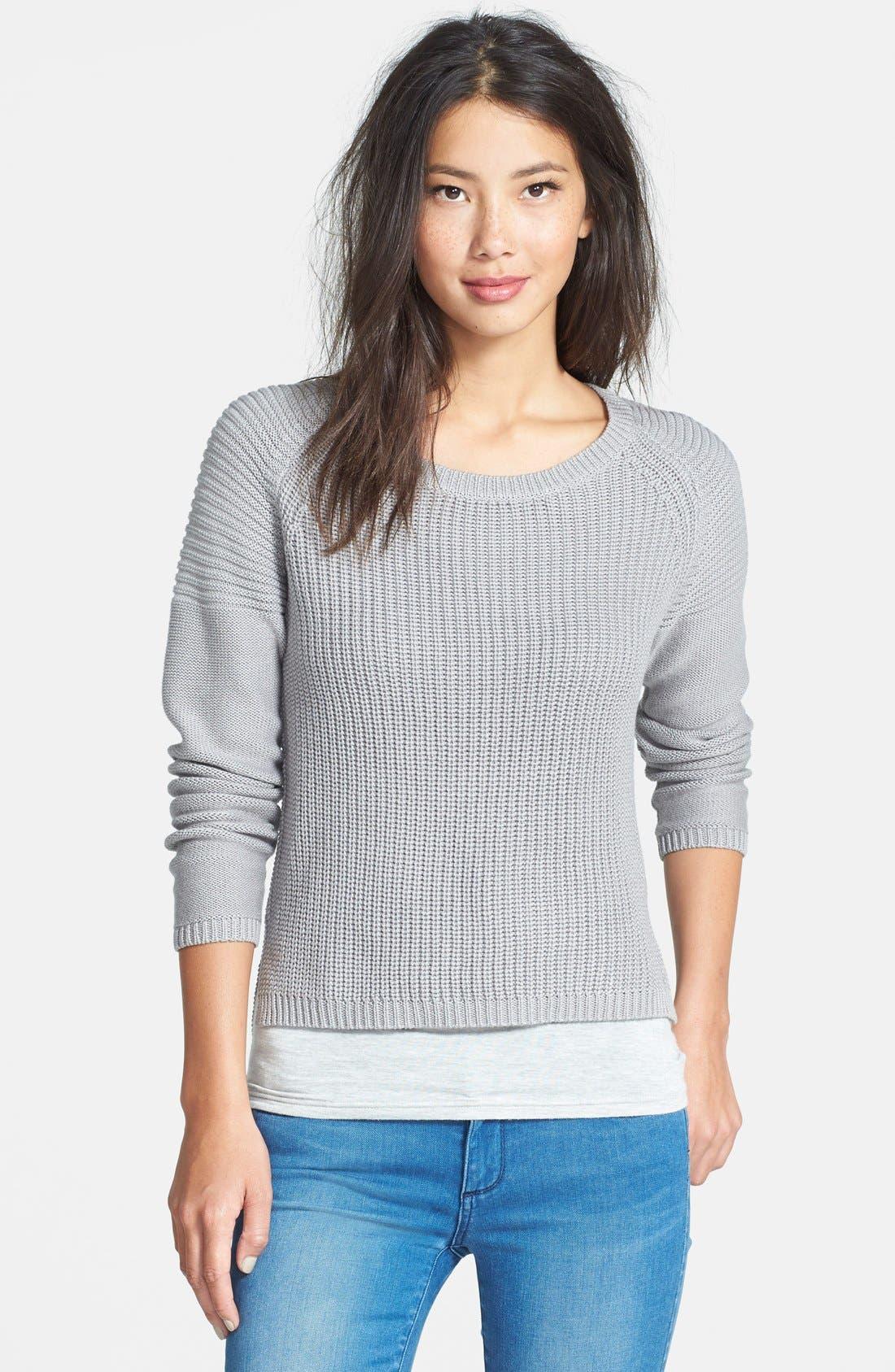 Main Image - Dex Rib Knit Crop Sweater