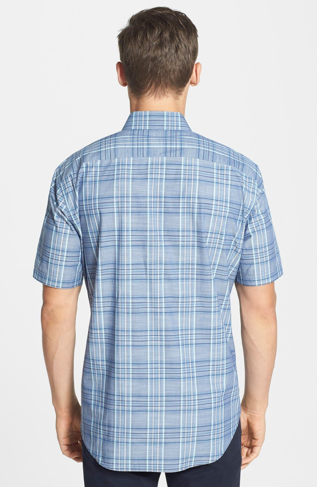 Alternate Image 2  - Zachary Prell 'Deeb' Standard Fit Short Sleeve Windowpane Plaid Sport Shirt