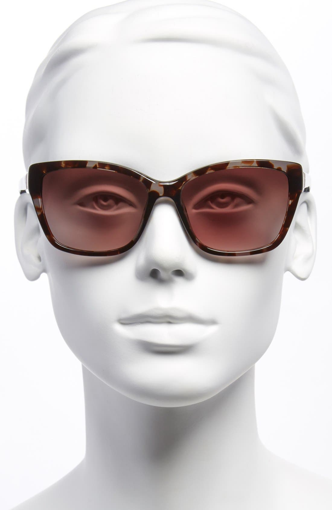 Alternate Image 2  - Furla 56mm Leather Insert Sunglasses