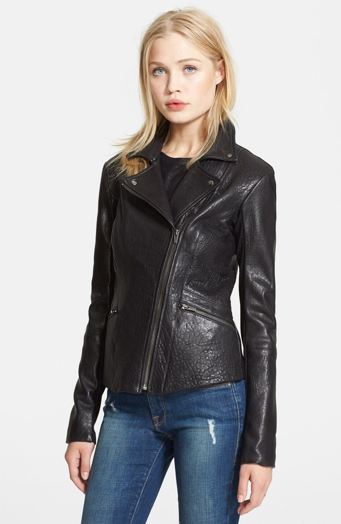 Alternate Image 3  - Veda 'Dallas' Embossed Leather Jacket