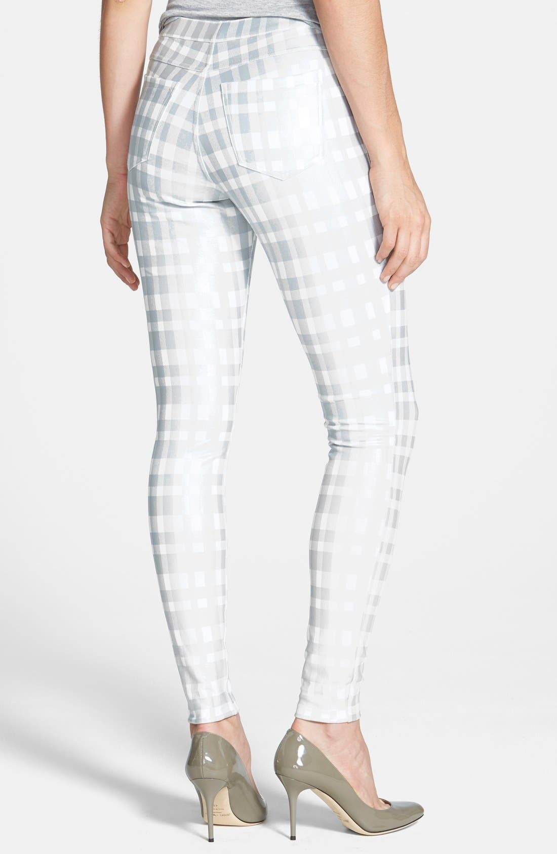 Alternate Image 2  - Hue Plaid Print Ponte Leggings