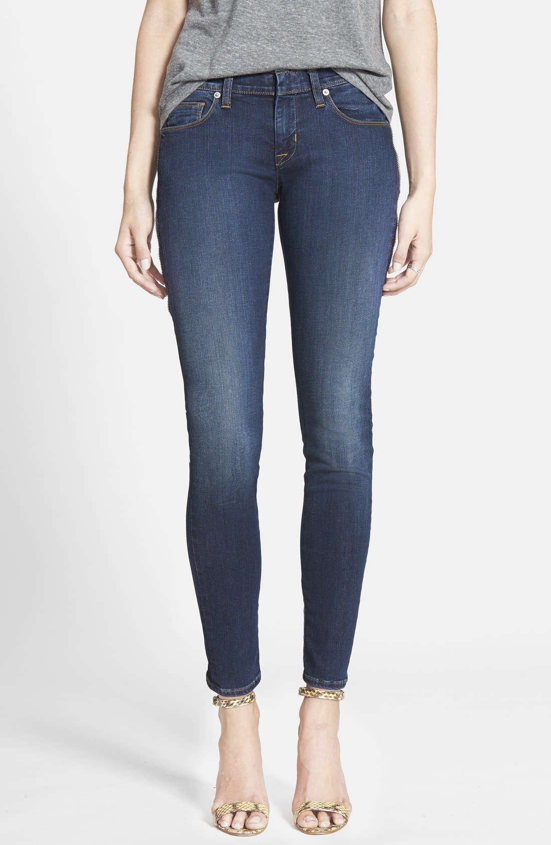 Alternate Image 1 Selected - Hudson Jeans 'Spirit Punk' Zip Detail Skinny Jeans (Globetrotter)