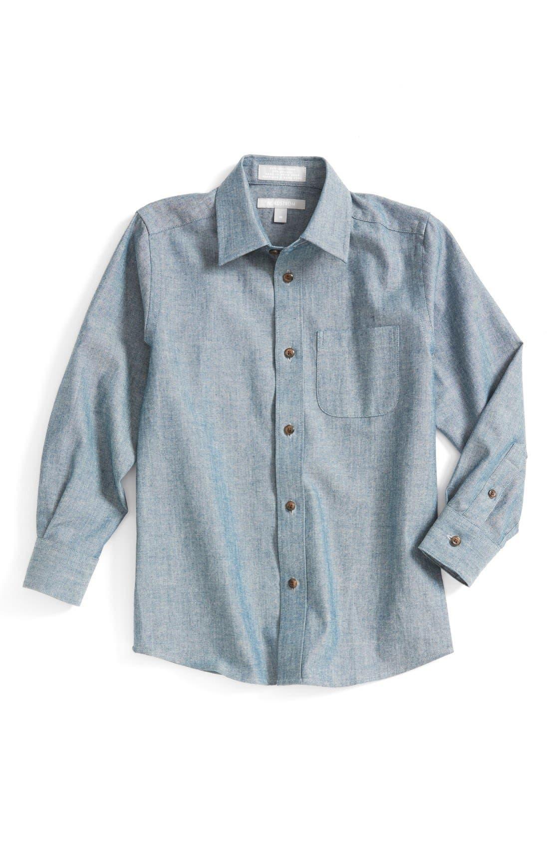 Main Image - Nordstrom 'Edgar' Cotton Chambray Shirt (Toddler Boys & Little Boys)